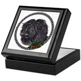 """The Thinker"" Portuguese Water Dog Keepsake Box"