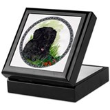 """Happiness"" Portuguese Water Dog Keepsake Box"