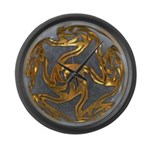 Faberge's Jewels - Grey Large Wall Clock