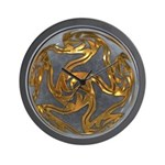 Faberge's Jewels - Grey Wall Clock