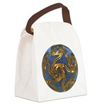 Faberge's Jewels - Blue Canvas Lunch Bag
