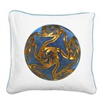Faberge's Jewels - Blue Square Canvas Pillow
