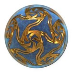 Faberge's Jewels - Blue Round Car Magnet