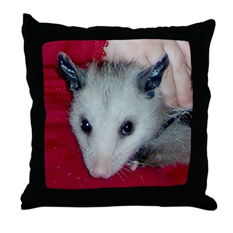 Little Possum Throw Pillow