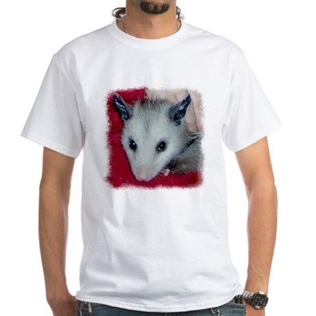 Little Possum White T-Shirt
