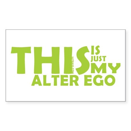 Hero/Alter Ego Rectangle Sticker