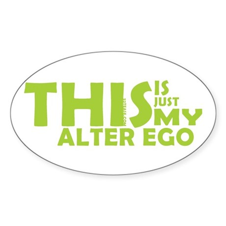 Hero/Alter Ego Oval Sticker