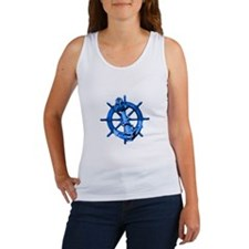 Blue Ship Anchor And Helm Tank Top