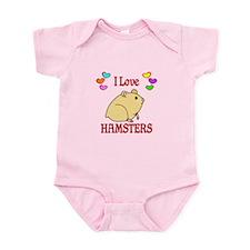 I Love Hamsters Infant Bodysuit