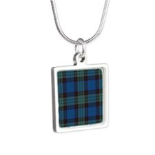 Tartan - Stewart Silver Square Necklace