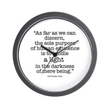 'To kindle light' by Carl Jung Wall Clock