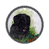 &quot;Happiness&quot; Portuguese Water Dog Ornament (Round)
