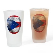 Puerto Rico Football Drinking Glass