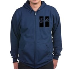 old school chevrolet racing stripes Zip Hoodie