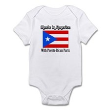 Puerto Rican Parts Infant Bodysuit