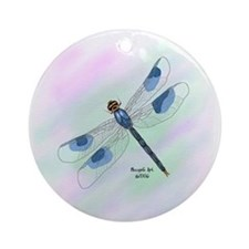 Dragonfly Art Ornament (Design8)(Round)