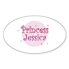 Jessica Oval Decal