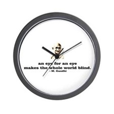 An eye for an eye makes the w Wall Clock