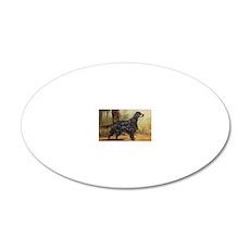 Gordon Setter 20x12 Oval Wall Decal