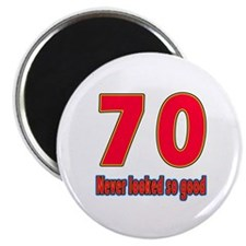 """70 Never Looked So Good 2.25"""" Magnet (100 pack)"""