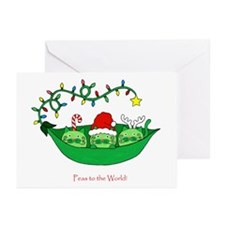 Peas to the World Greeting Cards (Pk of 10)