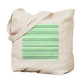 Retro Green Pinstripes Tote Bag