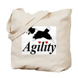 Border Collie Agility Tote Bag
