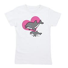 Dolphins (3) Girl's Tee