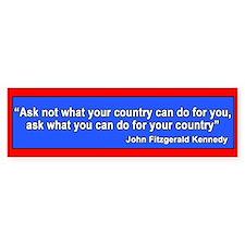 JFK Inaugural Quote Bumper Bumper Sticker