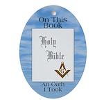 The Masonic Oath Oval Ornament
