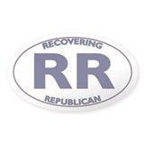Recovering Republicans Oval Decal