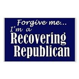 Recovering Republicans Rectangle Decal