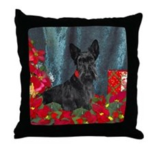 Scottish Terrier Scottie Christmas Throw Pillow