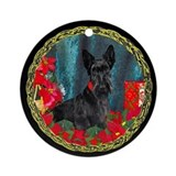 Scottish Terrier Scottie Christmas Ornament (Round