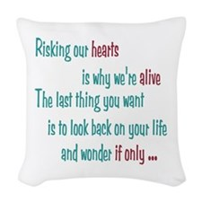 Castle: Risking Our Hearts Woven Throw Pillow
