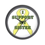 I Support My Sister Wall Clock