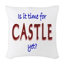 Time For Castle Woven Throw Pillow