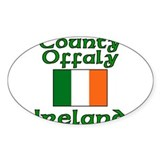 County Offaly, Ireland Oval Decal