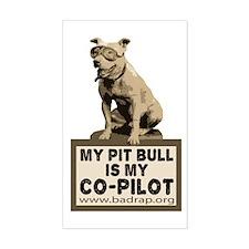 Pit Bull Pilot Rectangle Sticker