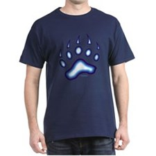 Blue Glow Bear Paw T-Shirt