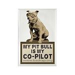 Pit Bull Pilot Rectangle Magnet (10 pack)