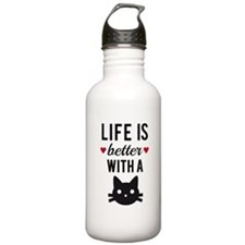Life is better with a cat, text design, word art W