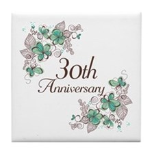 30th Anniversary Keepsake Tile Coaster