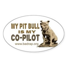 Pit Bull Pilot Oval Decal