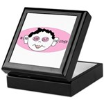 Pink In One Ear Keepsake Box