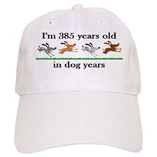 55 dog years birthday 2 Baseball Baseball Cap