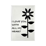 I LOVE YOU WITH ALL MY HEART Rectangle Magnet (100
