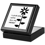 I LOVE YOU WITH ALL MY HEART Keepsake Box