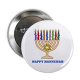 Hannukah Menorah 2.25&quot; Button (10 pack)