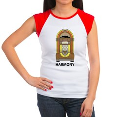 Retro Jukebox Women's Cap Sleeve T-Shirt